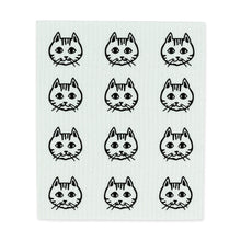 Load image into Gallery viewer, Cat Face Dishcloths. Set of 2