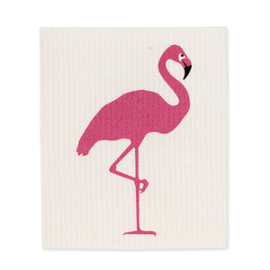 Flamingo Dishcloths. Set of 2
