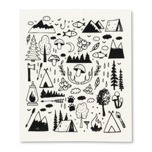 Load image into Gallery viewer, Camping Motif Dishcloths. Set of 2