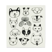Load image into Gallery viewer, Simple Dog Faces Dishcloths. Set of 2