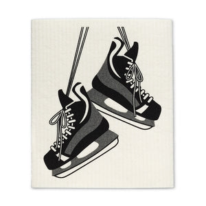 Hockey Skates & Stick Dishcloths. Set of 2