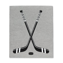 Load image into Gallery viewer, Hockey Skates & Stick Dishcloths. Set of 2