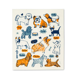 Dogs with Names Dish Cloths. Set of 2