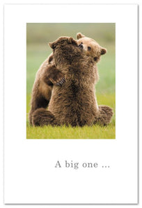 A Big One Bear Hug Card