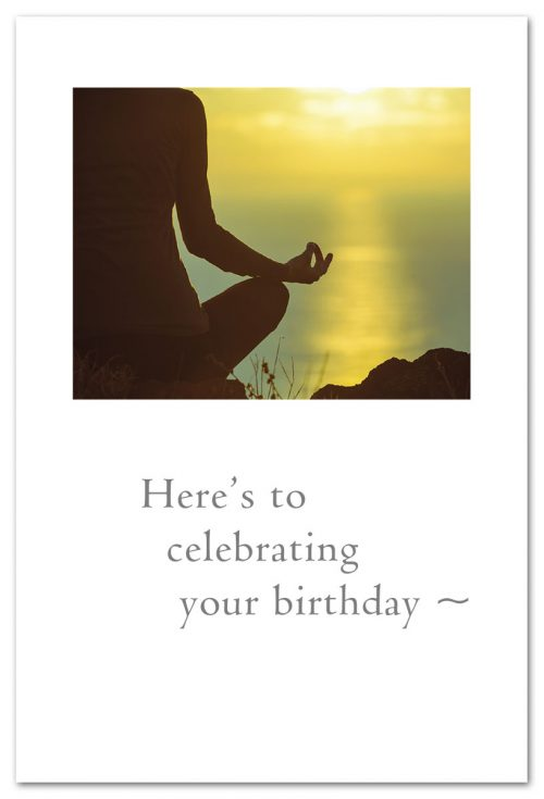 Here's To Celebrating Your Birthday Yoga Card