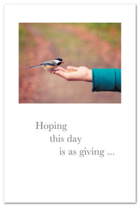 Hoping This Day Is As Giving Card