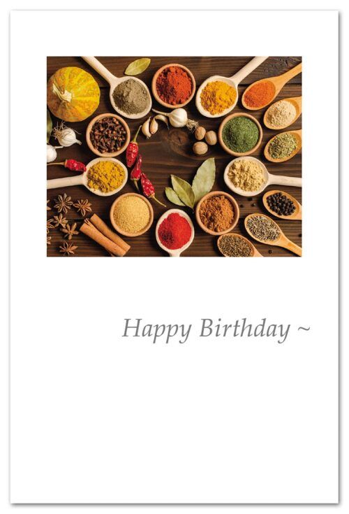 Happy Birthday Colorful Spices