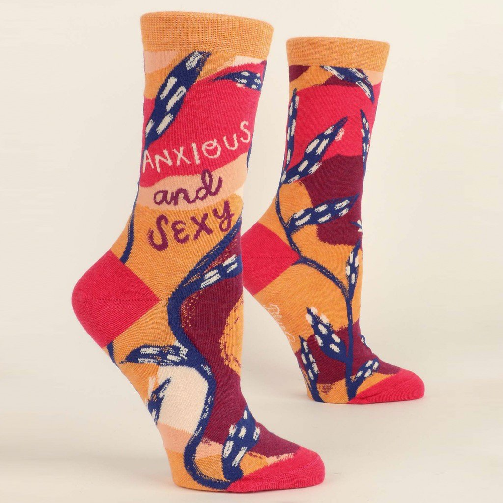 ANXIOUS AND SEXY - WOMEN CREW SOCKS