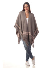 Load image into Gallery viewer, Grey Knit Wrap/Ruana