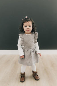 PINAFORE LINEN DRESS - 2 Colours  (6-12 Months)