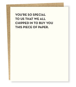 YOU'RE SO SPECIAL TO US CARD