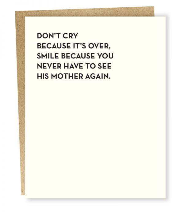 DON'T CRY CARD