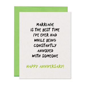 MARRIAGE IS THE BEST TIME I'VE EVER HAD CARD