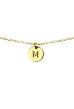 Load image into Gallery viewer, Letter Disc Necklace - Gold - M