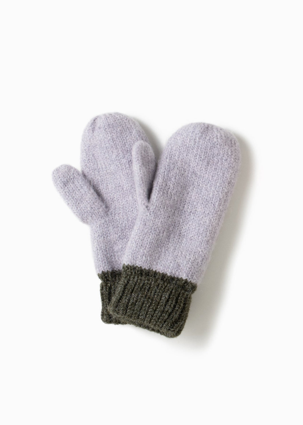 GREEN COTTON CANDY TWO TONE MITTENS