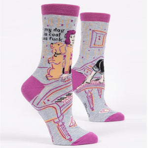MY DOG IS COOL AS FUCK - WOMEN CREW SOCKS
