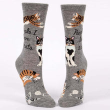 Load image into Gallery viewer, PEOPLE I LOVE: CATS - WOMEN CREW SOCKS
