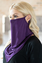 Load image into Gallery viewer, Eggplant Face Shield Mask with Ear Loop