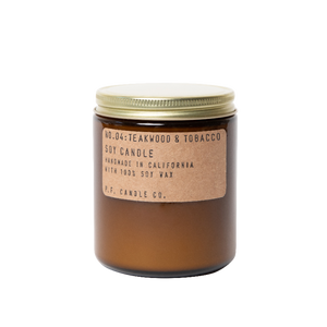 P.F. Candle Co - Teakwood & Tobacco 3.5oz and 7.2oz