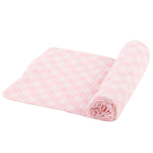 Load image into Gallery viewer, Primrose Pink Plaid Swaddle