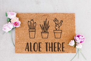 ALOE THERE - Large Doormat