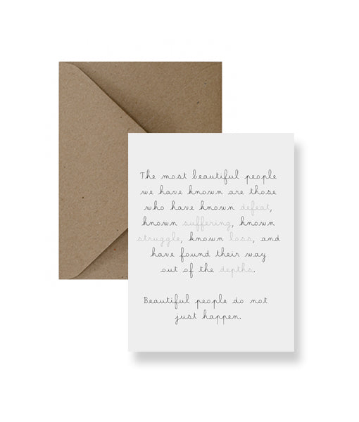The Most Beautiful People Greeting Card