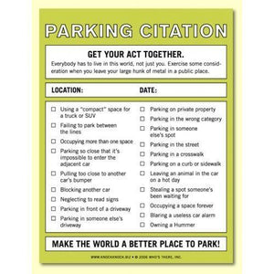 Parking Citation Nifty Notes