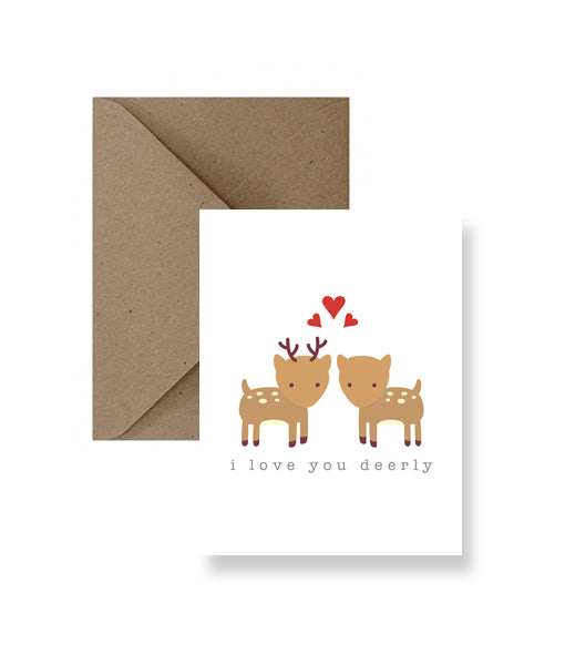 I Love You Deerly Greeting Card