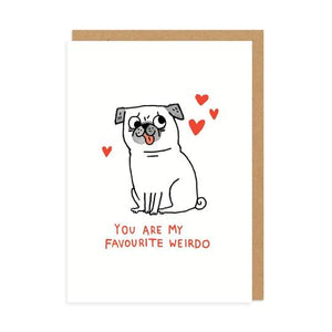 Favourite Weirdo Card
