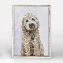 Load image into Gallery viewer, Green Box Art Golden Doodle Mini Framed Canvas