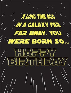 A LONG TIME AGO.....STAR WARS CARD