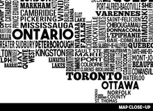 Load image into Gallery viewer, Canada City Typography Map Print
