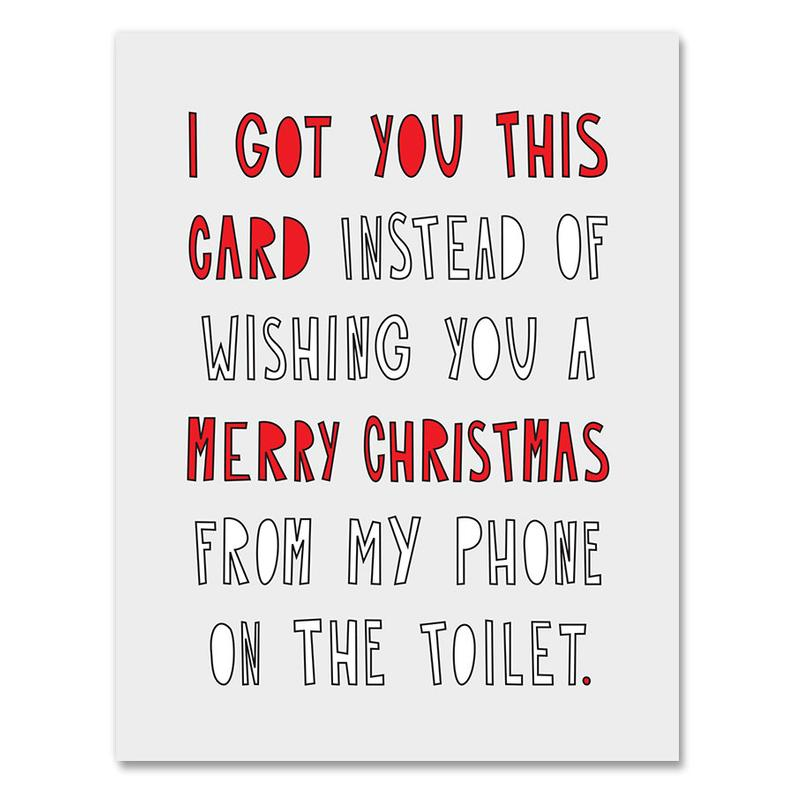 Toilet Christmas Card