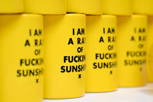 I AM A RAY OF FUCKING SUNSHINE.... EXTRA THICK BEER KOOZIE