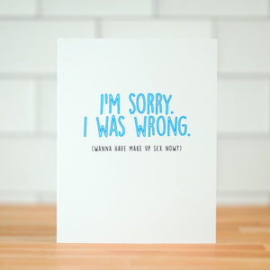 I'm Sorry.  I Was Wrong Card
