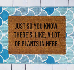 A Lot of Plants - Large Doormat