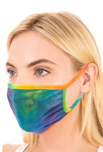 Multi Colour Tie Dye Adult Face Mask