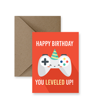 Load image into Gallery viewer, Leveled Up Birthday Card