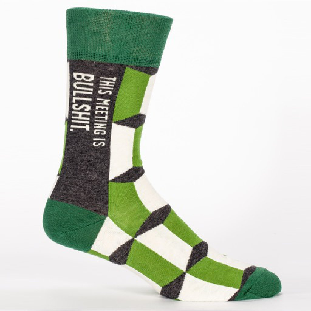 THIS MEETING IS BULLSHIT  - MEN'S CREW SOCKS