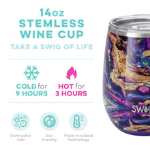 Load image into Gallery viewer, SWIG 14 OZ STEMLESS WINE CUP - PURPLE RAIN