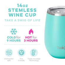 Load image into Gallery viewer, SWIG 14 OZ STEMLESS WINE CUP - MATTE AQUA