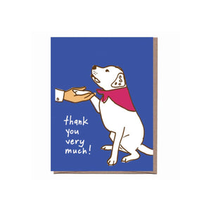 Thank You Very Much! Good Dog Card