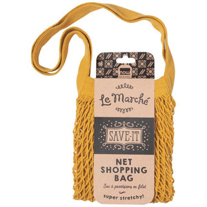 Gold Le Marché Shopping Bag
