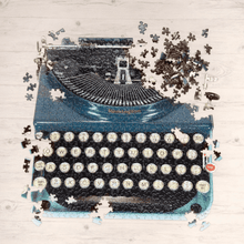 Load image into Gallery viewer, Vintage Typewriter 750 Piece Shaped Jigsaw Puzzle