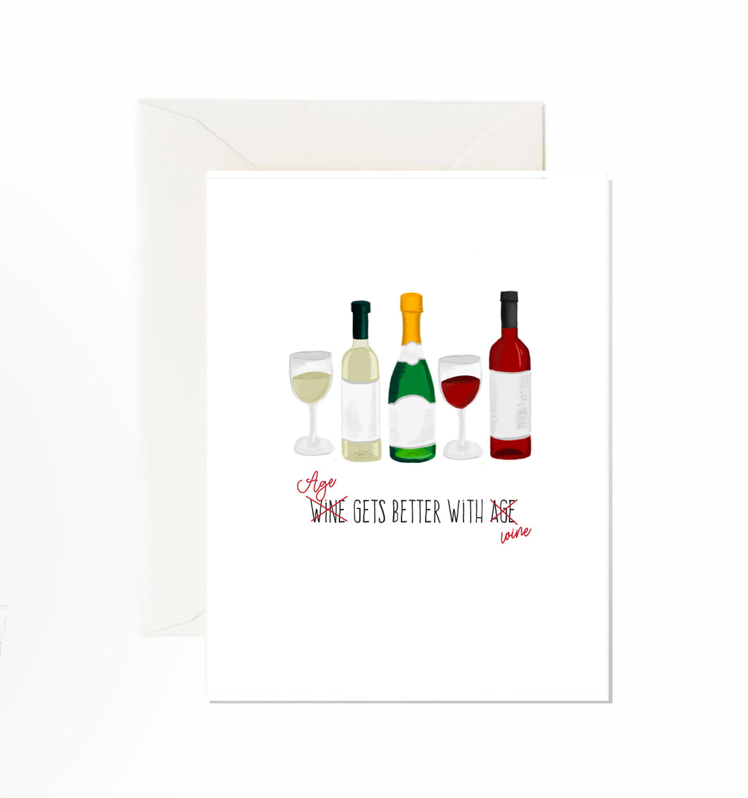 Age Gets Better With Wine Card