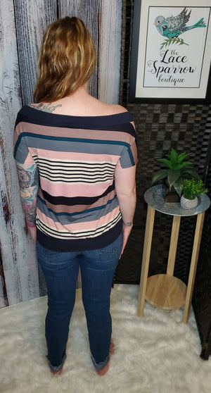 Ready for Anything Striped Top