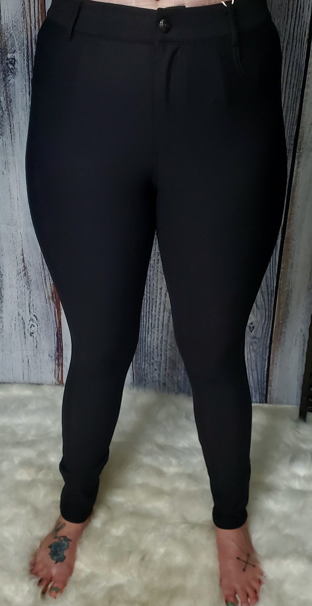 Walk This Way Jeggings- Black