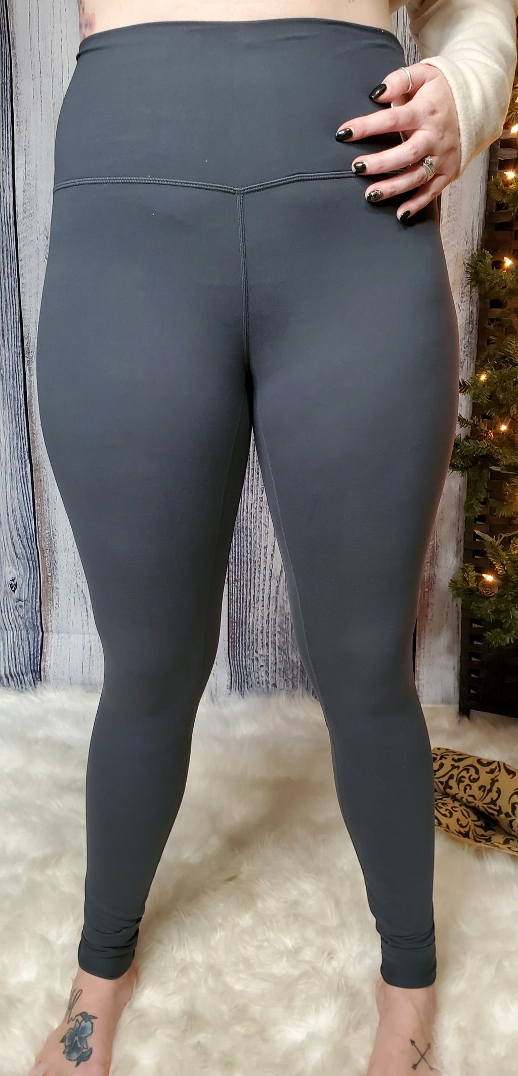 Butter Me Up Leggings- Charcoal