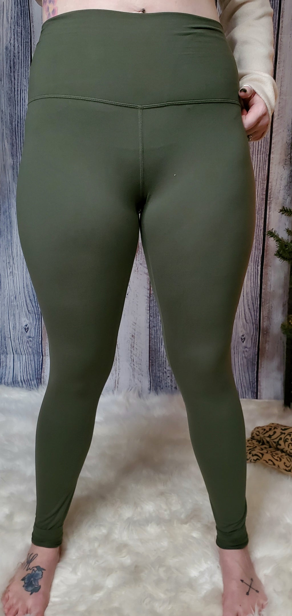 Butter Me Up Leggings- Olive