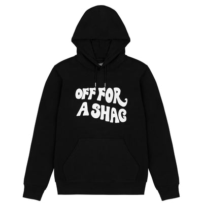 OFF FOR A SHAG HOODIE - BLACK